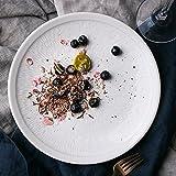 Platos de postre Plato plato de cerámica plana grande plato de bistec blanco redondo plato de ensalada de frutas plato de pasta plato de pasta Plato de personalidad del restaurante Platos para ensalad