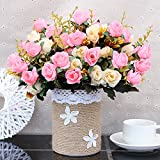 WANG-shunlida Gefälschte Blumen Fake Blume Ornament Wohnzimmer, Europäischen Stil Kleine, Frische und Ornamentalen Blumen und Topfpflanzen Imitation Blume, CFD