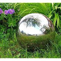 Polished Stainless Steel Gazing Globe Sphere: 15cm
