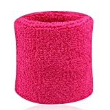 Poignet éponge sport anti-transpiration taille unique (rose fluo, taille unique)