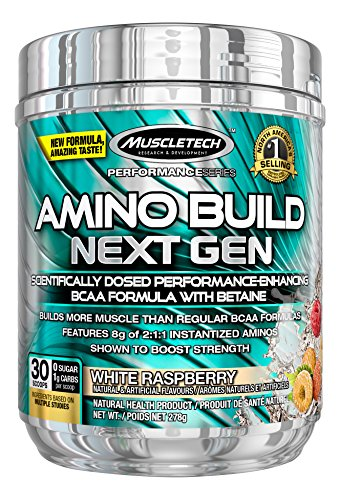 Amino Build Next Gen Energized 30 servings White Raspberry Amminoacidi ramificati (BCAA) - Muscletech - 61P5JleScbL
