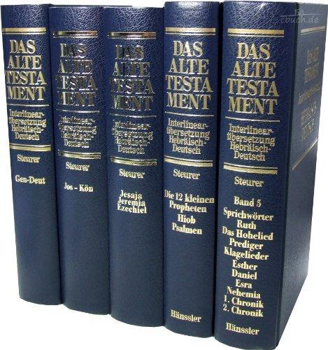 Interlinearübersetzung AT hebräisch-deutsch - Paket Band 1-5