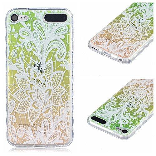 Voguecase® für Apple iPhone 6/6S 4.7 hülle, Anti-Rutsch Transparent Schutzhülle / Case / Cover / Hülle / TPU Gel Skin (Rutschfest/Faith) + Gratis Universal Eingabestift Rutschfest/Bunt Lace Blume