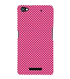 Valentines Day pattern 3D Hard Polycarbonate Designer Back Case Cover for Micromax Canvas Hue 2 A316