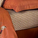 Yves Delorme Fitted Sheet Kachoga Coral 100x 200cm
