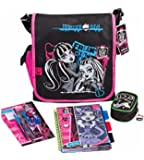 Monster High Filled School Messenger Bag, Check out this cool and funky backpack from Monster High containing your very own stationery pack