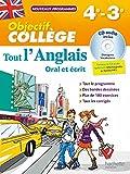 Objectif Collège - Tout l'Anglais 4e-3e - Nouveau programme 2016