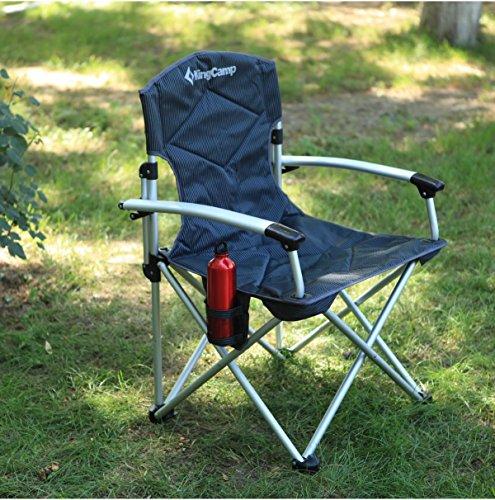 kingcamp klappstuhl angelstuhl campingstuhl faltstuhl gepolstert bis 140 kg belastbar outdoor. Black Bedroom Furniture Sets. Home Design Ideas