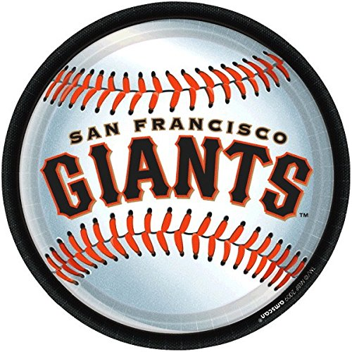 Amscan San Francisco Giants 9 Round Dinner Plates by Amscan (San Party Supplies Francisco)