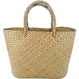 Fenical Gewebte Stroh Strandtasche Umhängetasche Sommer Handtaschen Einkaufstasche für Frauen klein