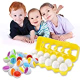 Toys for 1-6 Year Old Girls Boys Toddler Toys Gifts for Boys Girls Color Matching Egg Set Educational Color & Number…