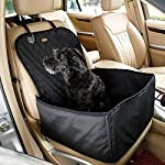 Homeself 2 in 1 Pet dog car supplies Pet Front Seat Cover Waterproof Pet Booster Seat (GREY) 5