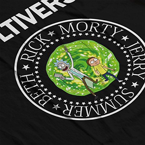 Rick And Morty Multiverse Ramones Logo Women's Sweatshirt Black