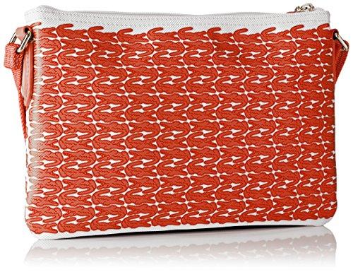 Lacoste Damen Nf1974cx Umhängetaschen, 17.5 x 1 x 27 cM ORANGE CROC (Orange Croc)