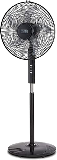 Black+Decker 16 Inch Pedestal Stand Fan, Black - FS1620-B5