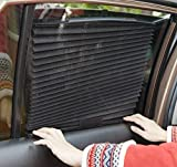 #4: Autofier Car Auto Folding Sunshades Curtains Black (Set Of 2) For Ford EcoSport