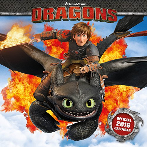The Official How to Train Your Dragon 2016 Square Calendar