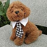 Cuello con corbata rombos para mascotas Navidad, cumpleaños, celebración, bodas, fotografia, fiestas de OPEN BUY,