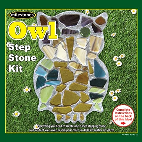 Midwest Products-Kit per mosaico, vetro, Pietra miliare, motivo: gufo