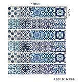 DOGZI Fliesenaufkleber Wandaufkleber Spiegel Aufkleber - DIY Schritte Aufkleber Abnehmbare Treppe Aufkleber Home Decor Keramik Fliesen Muster
