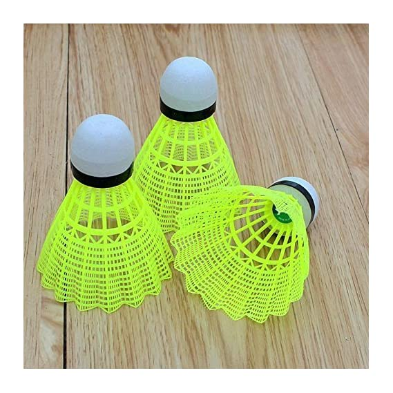 Alyza Sports Nylon Shuttlecock standered Size(Pack of 10).Badminton Shuttlecock