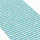 Movoja Hellblau Strasssteine - runde Glitzersteine 1200 Stück Ø 3mm selbstklebend zum Verzieren und Basteln | Schmucksteine zum aufkleben | Steinchen Dekosteine Bastelsteine Blau 1200 Stück Ø 3mm