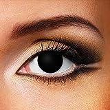 Lentes De Contacto De Color Negro Blind Halloween (90 Días)