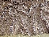 Zierrand Couture Brautschmuck schwere Guipure-Spitze Stoff beige–Meterware