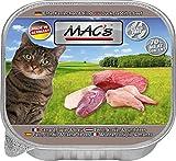 MACs Cat Ente, Kaninchen & Rind | 16x 85g Katzennassfutter