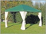 Pavillon 3x4m Sahara grün Partyzelt 4x3m Verkaufszelt wasserdicht