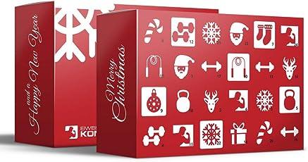 Eiweisskönig.de Sport Fitness Adventskalender mit 24 Geschenken - Limited Edition für Männer und Frauen mit Proteinriegeln. Fitnessriegeln UVM.