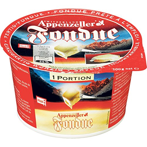 Käsefondue 'Appenzeller mini' von MIFROMA - 200g, Appenzeller Fondue, Fonduekäse, Einzelportion, für einen gemütlichen Fondue-Abend