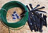 Kabel (2,7mm) 50m + 100 Haken + 5 Verbinder +3 Titan-Messer für Husqvarna Automower/Gardena Mähroboter