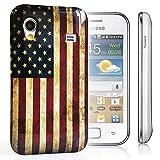 CASEiLIKE ® - USA American Vintage Retro de la bandera – Snap-on caso duro volver cubrir para Samsung S5830 Galaxy Ace (GT-S5830 / S5830T / S5830i) – con PROTECTOR de pantalla 1pcs.