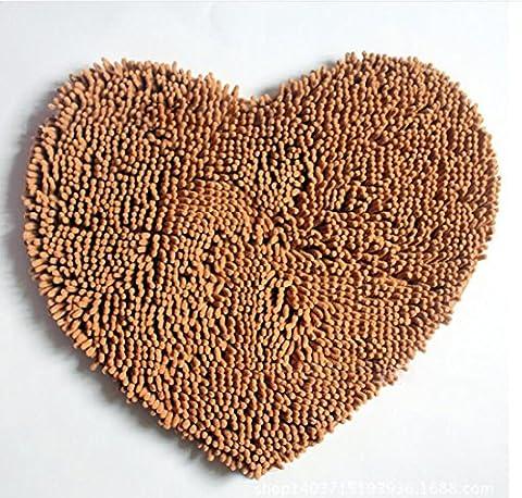 SANNIX Heart Love Microfiber Chenille Soft Fluffy Rug Bathroom Bedroom Carpet Mat(1pc Love