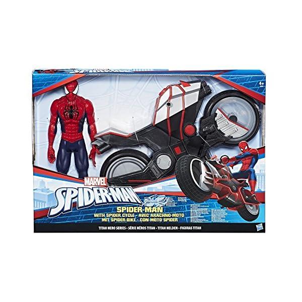 Marvel Spiderman - Figura Spiderman, con vehículo (Hasbro B9767EU4) 3