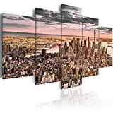 murando - Acrylglasbild New York 200x100 cm - 5 Teilig - Bilder Wandbild - modern - Decoration d-B-0069-k-p