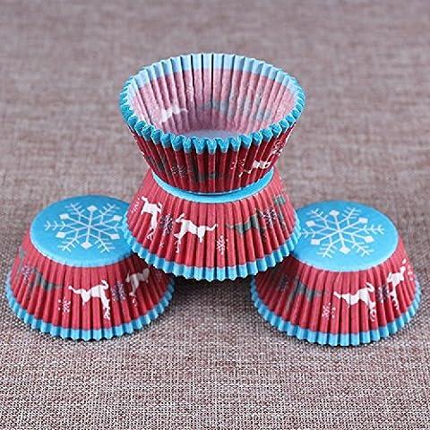 K&C Snowflake muffin cuisson bleu tasse de papier de petit gâteau
