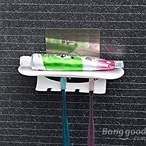mark8shop non-trace Sticker pour brosse à dents Dentifrice support étagère de salle de bains