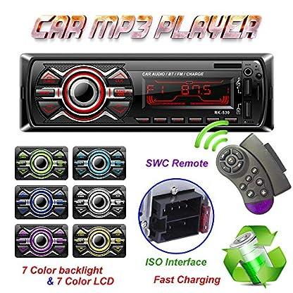 LSLYA-7-Color-Hintergrundbeleuchtung-Universal-Autoradio-Stereo-Receiver-Einzel-Din-Bluetooth-MMCUSBSAUXFM-Player-Freisprechen-4-Kanal-Ausgang-Lenkradfernbedienung-Telefongebhr