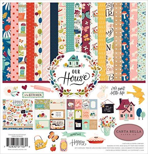 mpany CBOH94016 Our House Collection Papier, Blau, Rot, gestreift, Blaugrün, Pflaume, Grün ()