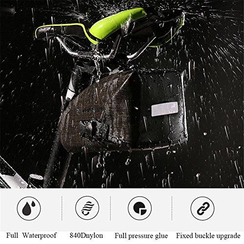 ASOSMOS Fahrrad Satteltasche Wasserdichte Fahrrad Sitz Packungen Triangle Bike Sitz Aufbewahrungstasche mit Quick Release Schnalle für Road Bike Mountain Bike MTB Fahrrad (Road-bikes Zum Verkauf)
