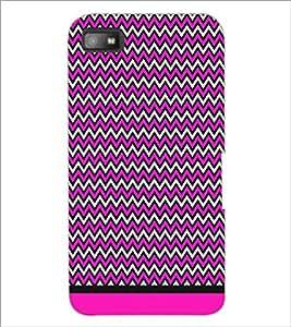 PrintDhaba Zig Zag Pattern D-1700 Back Case Cover for BLACKBERRY Z10 (Multi-Coloured)