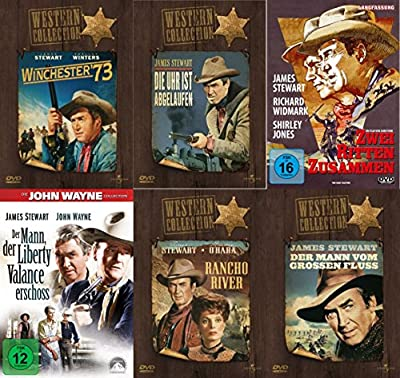James Stewart - Western Klassiker Collection - Winchester 73 + Die Uhr ist abgelaufen + Zwei ritten zusammen + Der Mann, der Li