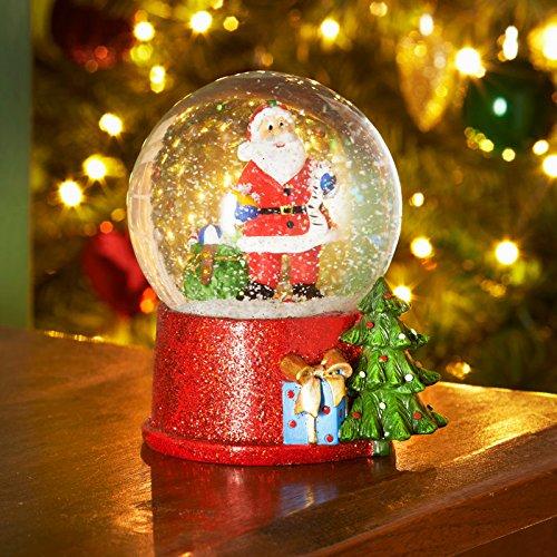Père Noël Paillettes Boule de neige