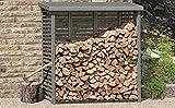 Gartenpirat Kaminholzregal mit Rückwand für ca. 2 m³ Holz in