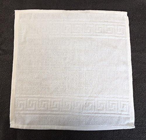 Seiftücher, Seiflappen, Waschlappen, Gesichtstuch, Kompresse aus Zwirnfrottier 30x30 cm mit griechischer Bordüre CA2021