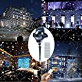 Christmas Lights Projector, Led Snow Lights with Remote Control, Waterproof Landscape Lights Indoor and Outdoor, Spotlights for Christmas Decorations Halloween Garden Lawn Patio Wedding Stage by Malivent by MaLivent