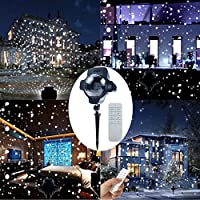 Christmas Lights Projector, Led Snow Lights with Remote Control, Waterproof Landscape Lights Indoor and Outdoor, Spotlights for Christmas Decorations Halloween Garden Lawn Patio Wedding Stage by Malivent