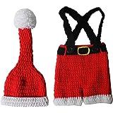 VALICLUD Traje de Fotografía de Bebé Recién Nacido Accesorios de Sesión de Fotos de Navidad Conjunto de Disfraces de Pantalon